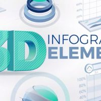 3D Infographic Elements – After Effects