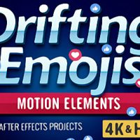 Drifting Emoji – After Effects Project