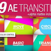 VIDEOHIVE 199 TRANSITIONS PACK V1.2 – AFTER EFFECTS PROJECT