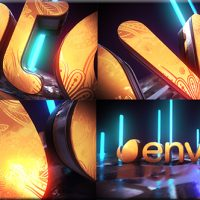VIDEOHIVE GOLDEN NEON LOGO INTRO