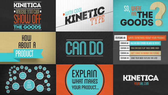 KINETICA AFTER EFFECTS PROJECT VIDEOHIVE Free After Effects - Awesome slideshow after effects scheme