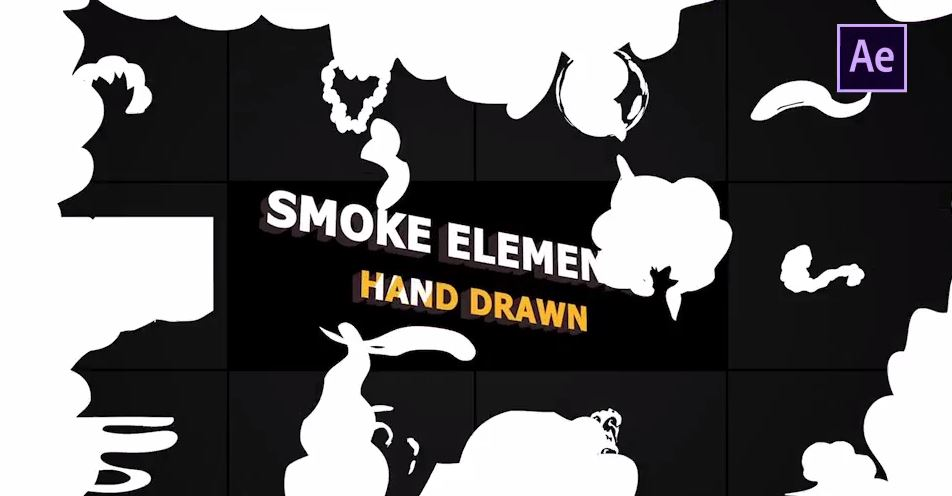 Cartoon Smoke Elements And Transitions - After Effects