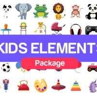 VIDEOHIVE KIDS ELEMENTS PACKAGE – AFTER EFFECTS TEMPLATE