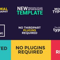 VIDEOHIVE 99 TITLES ANIMATION PACK – AFTER EFFECTS TEMPLATE