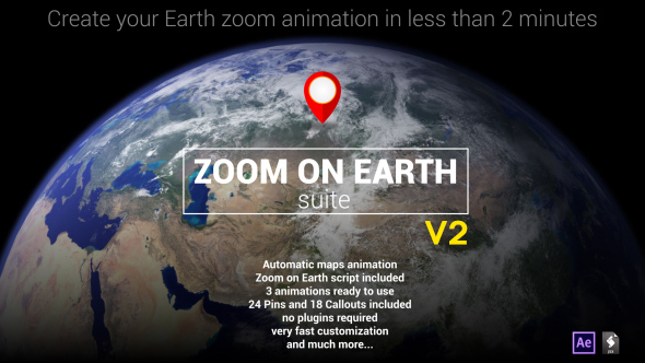VIDEOHIVE ZOOM ON EARTH SUITE V2 - AFTER EFFECTS TEMPLATE - Free