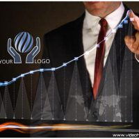 VIDEOHIVE BUSINESS CHART – LOGO INTRO