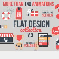 FLAT DESIGN V3 – AFTER EFFECTS PROJECT (VIDEOHIVE)