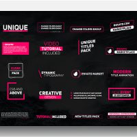 VIDEOHIVE TITLES 21531645 FREE AFTER EFFECTS TEMPLATE
