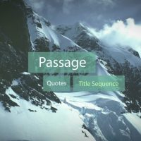 PASSAGE – QUOTES TITLE SEQUENCE – AFTER EFFECTS TEMPLATE (ROCKETSTOCK)