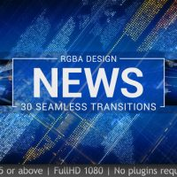 VIDEOHIVE NEWS TRANSITIONS FREE AFTER EFFECTS TEMPLATE