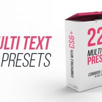 VIDEOHIVE MULTI TEXT PRESETS – ADD_ONS
