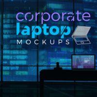 VIDEOHIVE CORPORATE LAPTOP MOCKUPS