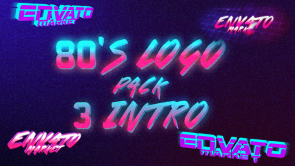 VIDEOHIVE 80'S LOGO INTRO PACK 3 IN 1 - Free After Effects Template