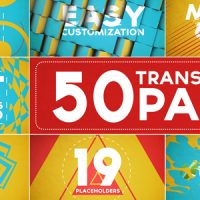 50 TRANSITIONS PACK WITH OPENER – AFTER EFFECTS PROJECT (VIDEOHIVE)