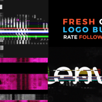 VIDEOHIVE FRESH GLITCH LOGO BUILD 2 PACK VOLUME 1