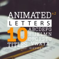 VIDEOHIVE ANIMATED LETTERS & 10 TITLES LAYOUT 2