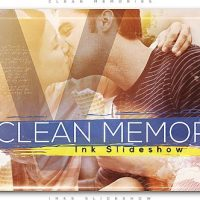 VIDEOHIVE CLEAN MEMORIES INKS SLIDESHOW