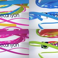 VIDEOHIVE CLEAN RIBBON LOGO REVEAL