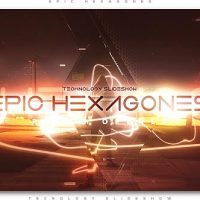 VIDEOHIVE EPIC HEXAGONES TECHNOLOGY SLIDESHOW
