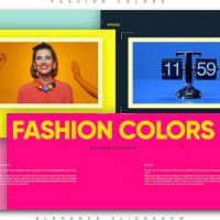 VIDEOHIVE FASHION COLORS ELEGANCE SLIDESHOW