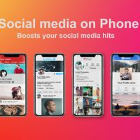 VIDEOHIVE SOCIAL MEDIA ON PHONE