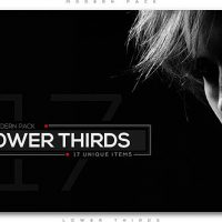 VIDEOHIVE MODERN LOWER THIRDS PACK