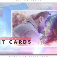 VIDEOHIVE PAINTED CARDS OF MEMORIES SLIDESHOW