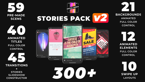 VIDEOHIVE INSTAGRAM STORIES 21895564 - Free After Effects Template