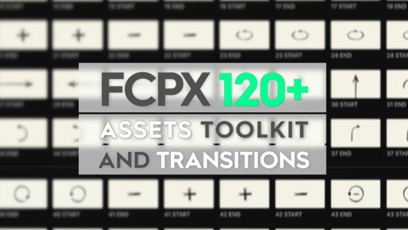VIDEOHIVE FCPX ASSETS TOOLKIT AND TRANSITIONS - Free After Effects
