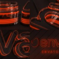 VIDEOHIVE NEON LOGO REVEAL ELEMENT 3D