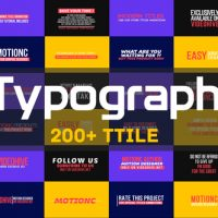 VIDEOHIVE TYPOGRAPH – FREE AFTER EFFECTS TEMPLATE