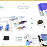 VIDEOHIVE MINIMAL WEBSITE / AGENCY PRESENTATION