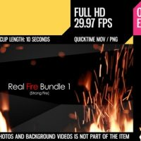 VIDEOHIVE REAL FIRE BUNDLE 1 – MOTION GRAPHICS