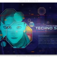 VIDEOHIVE TECHNO SHAPES DIGITAL SLIDESHOW