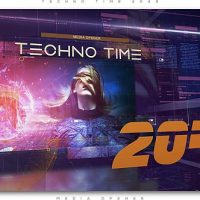 VIDEOHIVE TECHNO TIME 2049 MEDIA OPENER