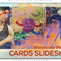 VIDEOHIVE WATERCOLOR MEMORIES CARDS SLIDESHOW