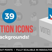 VIDEOHIVE 39 FLAT USA ELECTION ICONS