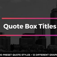 VIDEOHIVE QUOTE BOX TITLES