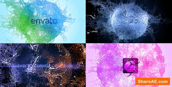 VIDEOHIVE SPLASH LOGO - PARTICLE EFFECT 11 - Free After