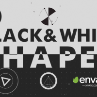VIDEOHIVE BLACK WHITE SHAPES