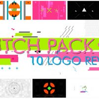 VIDEOHIVE 10 GLITCH SHAPES LOGOS