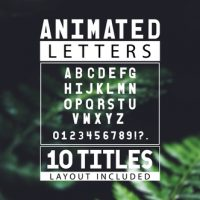 VIDEOHIVE ANIMATED LETTERS & 10 TITLES LAYOUT