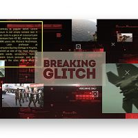 VIDEOHIVE BREAKING GLITCH PRESENTATION SLIDESHOW
