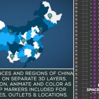 VIDEOHIVE CHINA MAP KIT