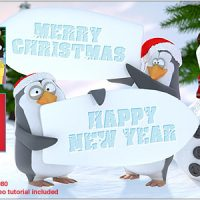 CHRISTMAS PENGUINS – AFTER EFFECTS PROJECT (VIDEOHIVE)