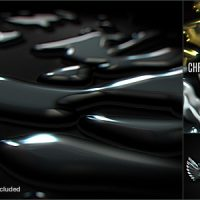 VIDEOHIVE CHROME LIQUID LOGO