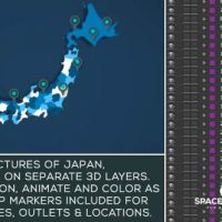VIDEOHIVE JAPAN MAP KIT