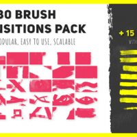 VIDEOHIVE 30 BRUSH TRANSITIONS PACK