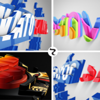 VIDEOHIVE REALISTIC CASCADING 3D LOGO