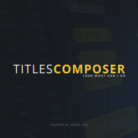 VIDEOHIVE TITLES COMPOSER